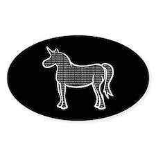 Binary Unicorn Oval Decal