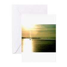 At sea where colors play Greeting Cards (Package o