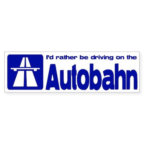 Autobahn Bumper Sticker
