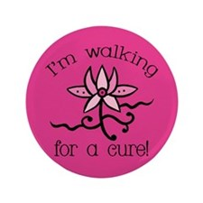 "Walking for a Breast Cancer Cure 3.5"" Button (100"