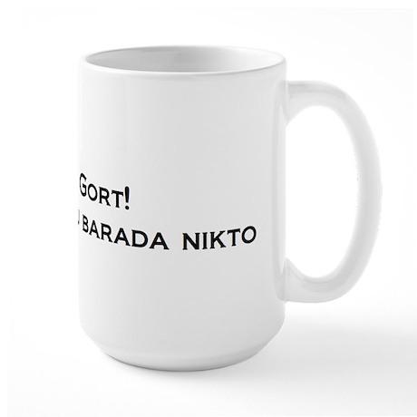 Gort Klaatu Barada Nikto Large Mug