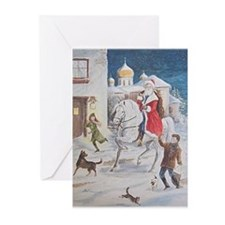 Santa Clause Andalusian Horse by Delia (Pk of 10)