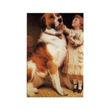 Trust by Charles Burton Barber Rectangle Magnet (1