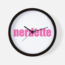 nerdette Wall Clock