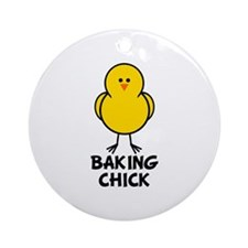 Baking Chick Ornament (Round)