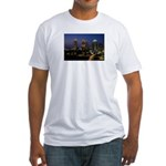 Atlanta City Skyline Fitted T-Shirt
