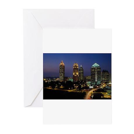 Atlanta City Skyline Greeting Cards (Pk of 10)