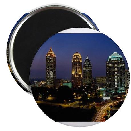"Atlanta City Skyline 2.25"" Magnet (100 pack)"
