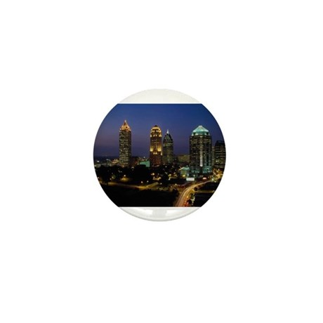 Atlanta City Skyline Mini Button