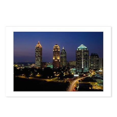 Atlanta City Skyline Postcards (Package of 8)