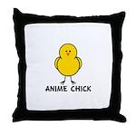 Anime Chick Throw Pillow