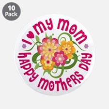 "Happy Mother's Day 3.5"" Button (10 pack)"