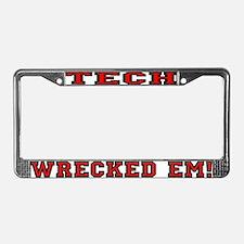 Tech Wrecked Em License Plate Frame