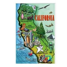 Cute California Postcards (Package of 8)