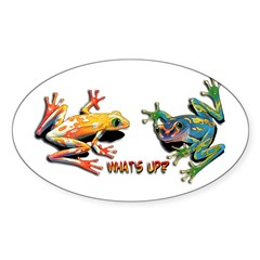 What's Up Frogs Oval Decal