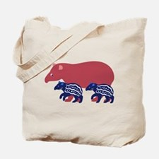 Tapir Family B Tote Bag