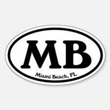 MB Miami Beach Oval Oval Decal