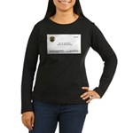 Doctor Quincy Women's Long Sleeve Dark T-Shirt