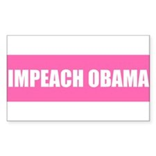 Impeach Obama Pink Rectangle Decal