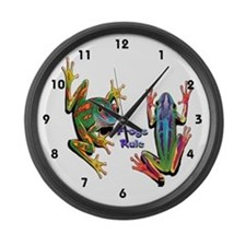 Frogs Rule Large Wall Clock