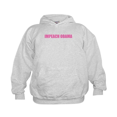 Impeach Obama Pink Kids Hoodie