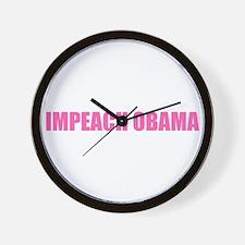 Impeach Obama Pink Wall Clock