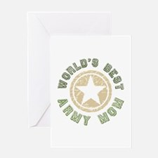 World's Best Army Mom Greeting Card