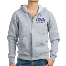 GIVE ME LIBERTY (NOT DEBT) Zip Hoodie