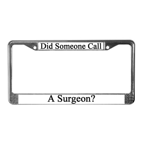 Surgeon License Plate Frame