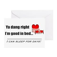 Ya Dang Right Greeting Cards (Pk of 20)