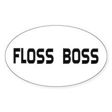 Dental Floss Boss Oval Bumper Stickers