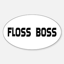 Dental Floss Boss Oval Decal