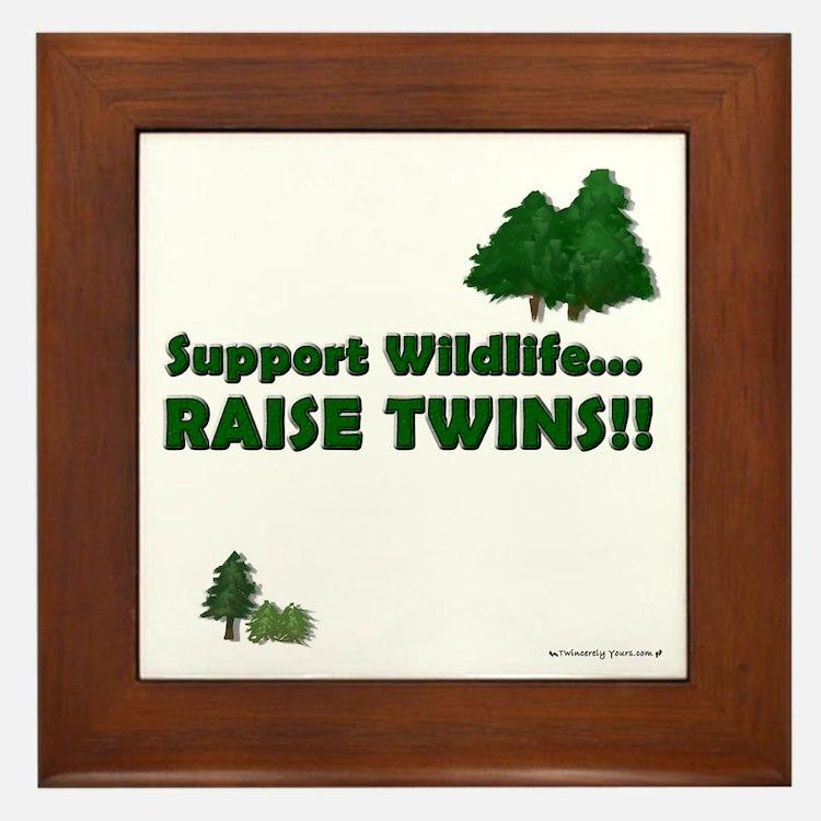 Support Wildlife - Twins Framed Tile