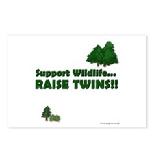 Support Wildlife - Twins Postcards (Package of 8)