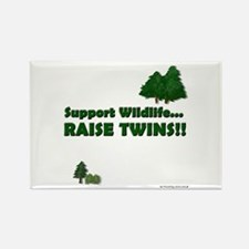 Support Wildlife - Twins Rectangle Magnet