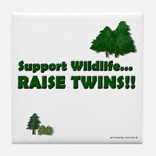 Support Wildlife - Twins Tile Coaster