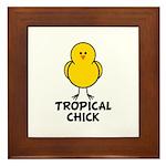 Tropical Chick Framed Tile