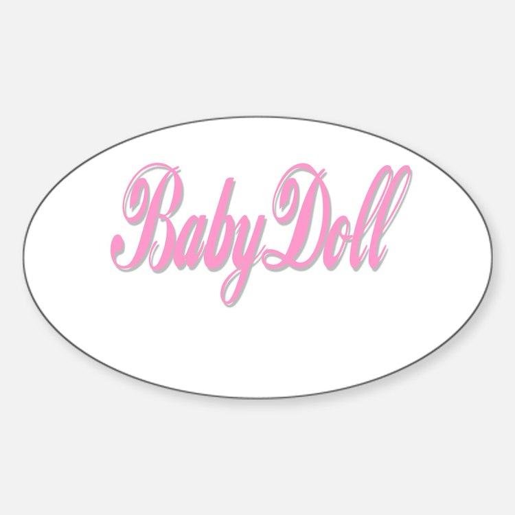 BabyDoll Oval Decal