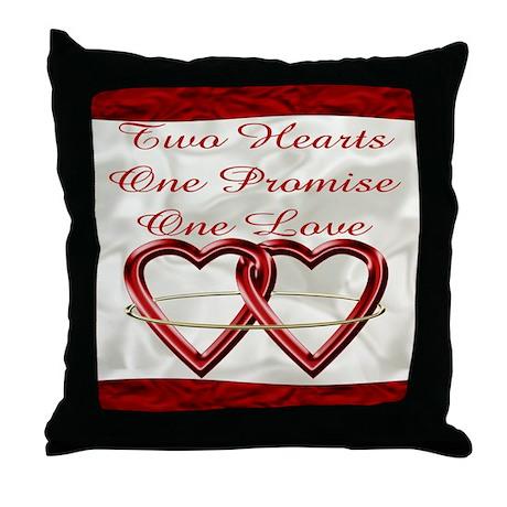 Wedding Cake Invitation Set Throw Pillow by pentagramstar