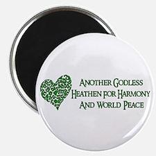 "Godless For World Peace 2.25"" Magnet (10 pack)"