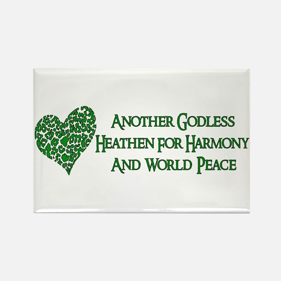 Godless For World Peace Rectangle Magnet (10 pack)