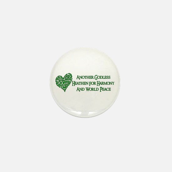 Godless For World Peace Mini Button