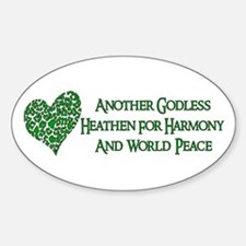 Godless For World Peace Oval Decal