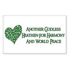 Godless For World Peace Rectangle Decal