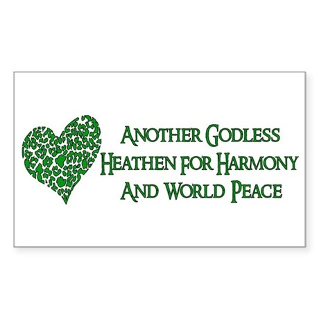 Godless For World Peace Rectangle Sticker