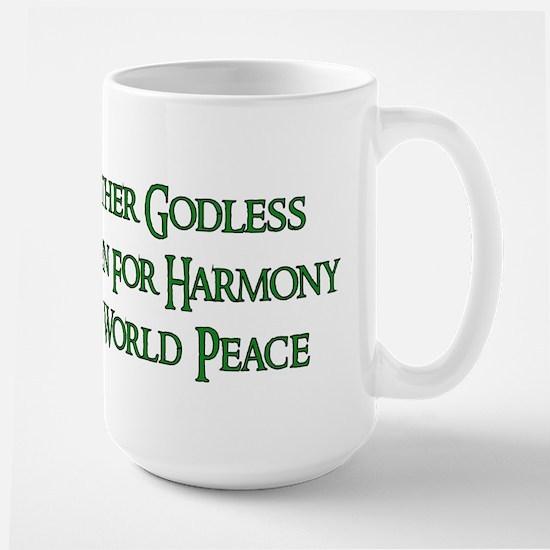 Godless For World Peace Large Mug