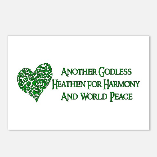 Godless For World Peace Postcards (Package of 8)