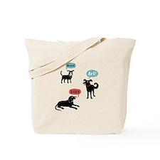 Woof Bark Arf Wooo Tote Bag