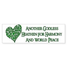 Godless For World Peace Bumper Bumper Sticker