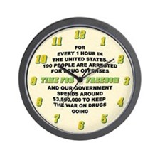 War on Drugs Wall Clock